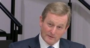 Enda Kenny at the Oireachtas banking inquiry: his party had 'very different economic model' from Fianna Fáil's