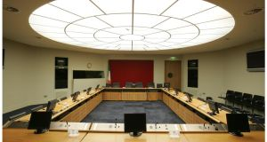 File photograph of  a Houses of the Oireachtas commission room. File photograph: Alan Betson/Irish Times