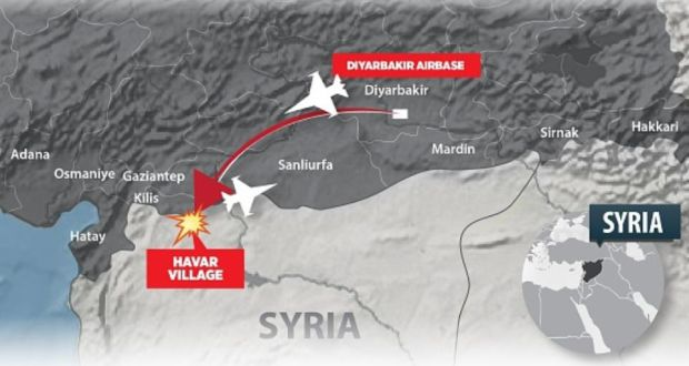 Turkey Attacks PKK And IS Targets In Iraq And Syria - Where is syria and turkey