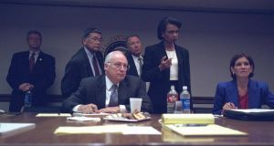 Vice president Cheney with senior staff in the President's Emergency Operations Center. Photograph: US National Archive