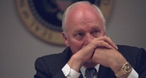 Vice president Cheney at the President's Emergency Operations Center. Photograph: US National Archive