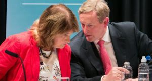 Enda Kenny's Fine Gael remains the most popular political party in the State according to the latest Red C/Sunday Business Post opinion poll. Coalition partners Labour saw its support rise one point to 8 per cent. Photograph: Collins