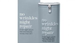 The This Works No Wrinkles Night Repair cream contains cactus extracts and retinol