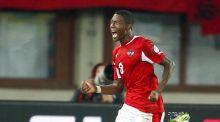 Austria's David Alaba caused the Republic of Ireland all sorts of problems during the the World Cup 2014 qualification match at the Ernst Happel Stadium. Photograph: Christian Hofer/Getty Images.