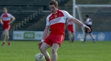 Derry's Aaron Devlin is on life support following a club game. Photograph: Donall Farmer/Inpho
