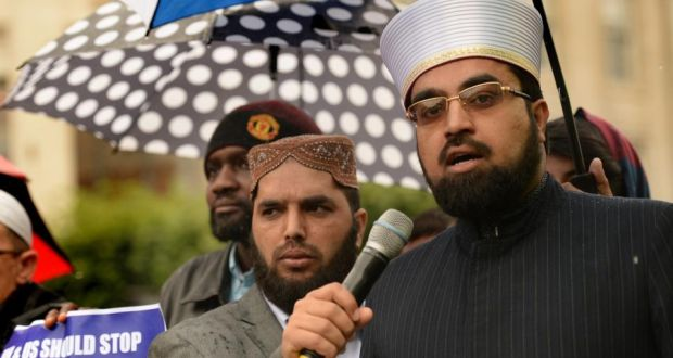 Dr Umar Al-Qadri: 'If you will remain silent you will let them come into the mosque and you will let them speak to the youth . . . They will spread the cancer of extremism to the Muslim youth.'  Photograph: Cyril Byrne