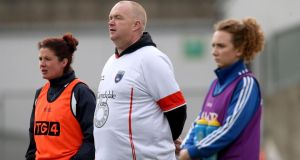 Armagh manager James Daly looks on. Photograph: Inpho