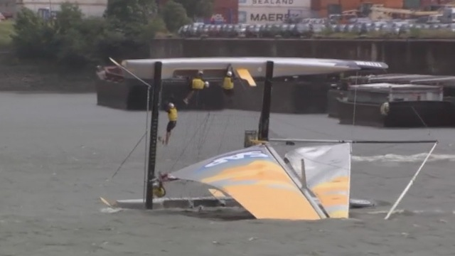 ► VIDEO: Over and out: sailing team suffer spectacular capsize
