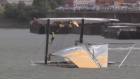 Over and out: sailing team suffer spectacular capsize