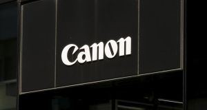 A showroom of Japanese imaging and optical products manufacturer Canon in Tokyo