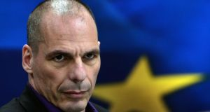 Outspoken: former  Greek finance minister Yanis Varoufakis. Photograph: Louisa Gouliamaki/AFP/Getty Images