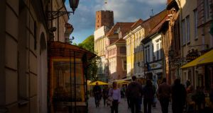 The winding lanes of Vilnius's Old Town. Photograph: Chris Carmichael/ New York Times