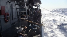 LÉ Niamh rescues 210 migrants and recovers 14 bodies