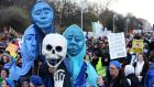 Protesters at an Anti-Water Charges Rally in Dublin. Photograph: Eric Luke/The Irish Times