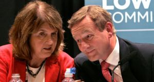 Tánaiste Joan Burton TD and Taoiseach and Fine Gael: the country's deficit and debt levels will now be a little higher than foreseen. Photograph: RollingNews.ie