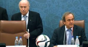 Michel Platini is going to stand for the role of Fifa president. Photograph: Afp