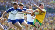 Donegal's Michael Murphy was much less influential against Monaghan than he had been in previous games in Ulster. Photograph: Cathal Noonan/Inpho