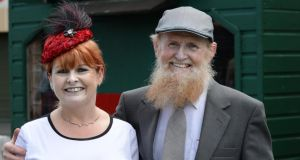 Day at the reces: Diane O'Connor and Timothy Cullen from Buttervant Co Cork. Photograph: Cyril Byrne/The Irish Times
