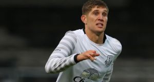 Everton's John Stones has attracted the attention of Chelsea and Manchester United. Photograph:  Andrew Milligan/PA