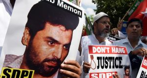India has executed convicted bomb plotter Yakub Memon for his role in a series of co-ordinated attacks that killed hundreds of people in Mumbai in 1993. Photograph: Money Sharma/AFP/Getty Images