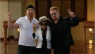 Bono and Yoko Ono honour John Lennon with giant tapestry