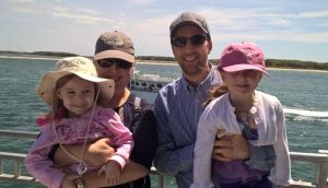 Quality-of-life issue: Kevin O'Donnell, who lives in Seattle, with his wife and their daughters