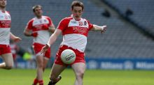 Derry footballer Aaron Devlin passed away on Thursday after battling an aggressive strain of meningitis. Photograph: Donall Farmer/Inpho