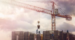 Construction is included in the industrial activity which has seen a year-on-year rise