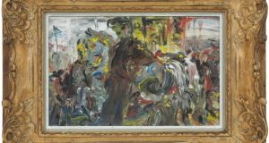 Hobby Horses by Jack B Yeats, one of the paintings for auction at Dolan's of Clifden this weekend