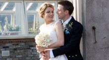 Our Wedding Story: Bagpipes and tartan at the Botanic Gardens