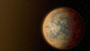 Nasa/JPL-Caltech handout shows an artist's conception of one possible appearance of the nearest rocky exoplanet found to date outside our solar system. Image: AFP/Getty Images