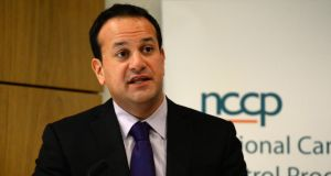 Minister for Health Leo Varadkar said there was a 'very good chance' Irish Water would pass next year's  Eurostat test  he expected the number of people paying their water charges to rise. Photograph: Cyril Byrne / The Irish Times