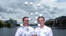 "Golfing twins, Leona and Lisa Maguire. ""As sisters they will always be close,"" says their mother, Breda. ""But that doesn't mean they will always be together."" Photograph: Stephen McCarthy/Sportsfile"