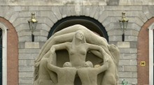 Stunning sand sculptures take shape in Dublin Castle