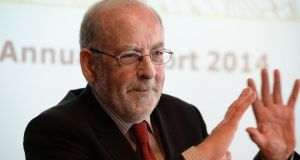 The appointment of Prof Honohan, an academic economist, was a break from tradition. Photograph: Cyril Byrne