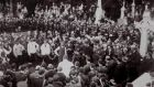 The funeral of O'Donovan Rossa at Glasnevin Cemetery on August 1st 1915.
