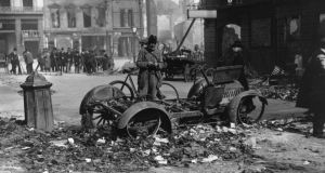 The aftermath of the  Easter Rising: its legacy was not only inspiring but helped to shape the nation Ireland is today. Photograph: Topical Press Agency/Getty Images