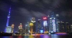 The financial district of Pudong in Shanghai: officials from the city travelled to Ireland as part of China's Senior Officials Training Programme. Photograph: Johannes Eisele/AFP/Getty Images