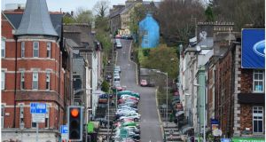 Patrick's Hill viewed from Patrick Street in  Cork. Photograph: Bryan O'Brien.