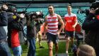 Australian Rules football star and one of Australia's most high-profile indigenous sportsmen Adam Goodes arrives for training in Sydney. Photograph: Peter Parks/Getty Images