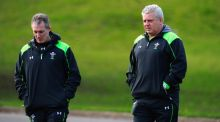 Wales coaches Robert Howley and head coach Warren Gatland - Wales have announced their XV for the game against Ireland. Photograph: Stu Forster/Getty Images