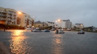 Irish summer: Galway promenade flooded during heavy storm