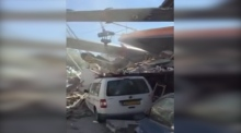 Amateur footage shows aftermath of Dutch crane collapse