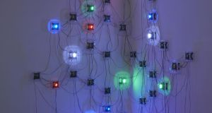 Detail from Life (Corps sans Organes) No 19 (2013) by Tatsuo Miyajima