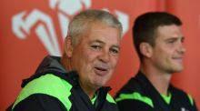 Wales coach Warren Gatland  and captain Scott Williams: Gatland discussed selection policy for Saturday's game with Joe Schmidt. Photograph: Stu Forster/Getty Images