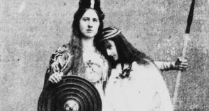 Detail from Alice Milligan's Queen Maeve tableau, staged in Belfast in 1898. Photograph: courtesy the National Library of Ireland