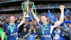 Gordon D'Arcy and Brian O Driscoll of Leinster celebrate after beating Ulster in the Heineken Cup Final in Twickenham in 2012. Photograph: Dara Mac Dónaill