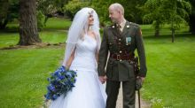 Our Wedding Story: An Arch of Swords for an officer and his bride