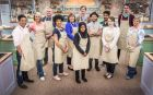 Lost in the Black Forest: Dorret Conway (fourth from left) and fellow contestants on The Great British Bake Off. Photograph: Mark Bourdillon/PA Wire