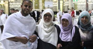 Before the arrest: Ibrahim Halawa with sisters Fatima, Omaima and Somaia. Photorgaph: PA Wire